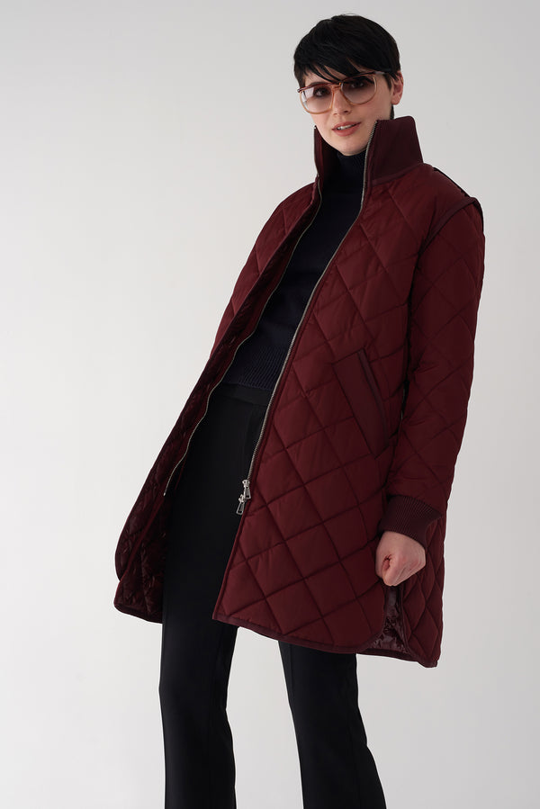 GEMMA OXBLOOD - Lightweight Quilted Jacket