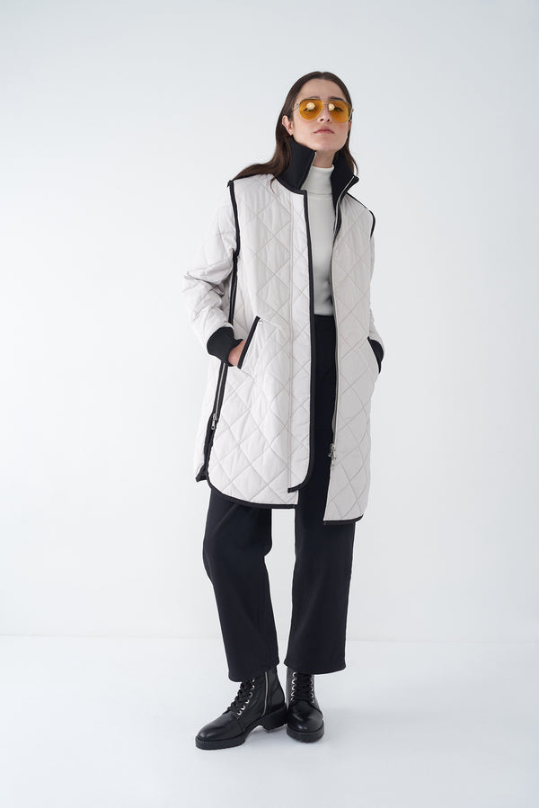 GEMMA CEMENT -  LIGHTWEIGHT QUILTED JACKET