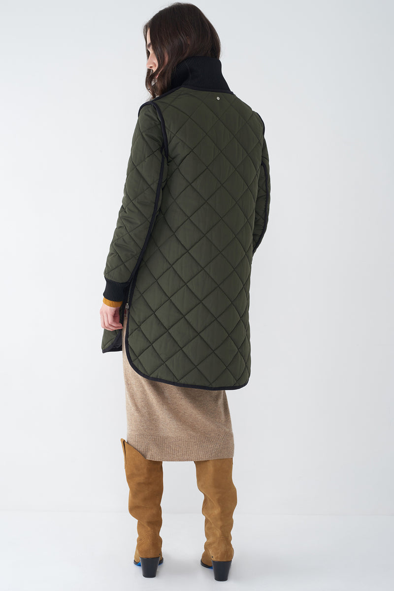 GEMMA FOREST GREEN -  LIGHTWEIGHT QUILTED JACKET