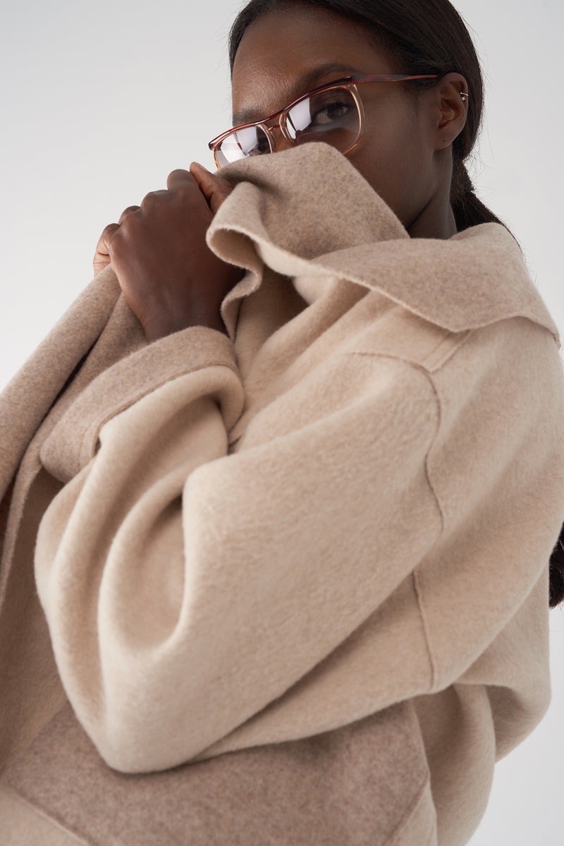 GIOVA CAMEL - Brushed Knit Jacket