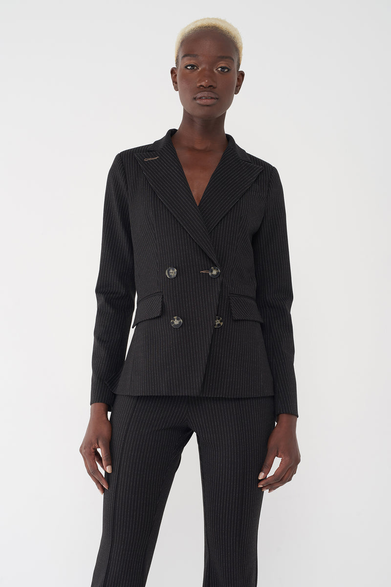 JAE PINSTRIPE - DOUBLE-BREASTED BLAZER