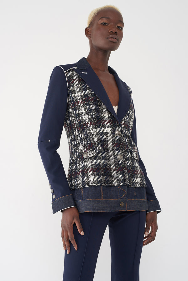 JANELLE NAVY - LONG BLAZER