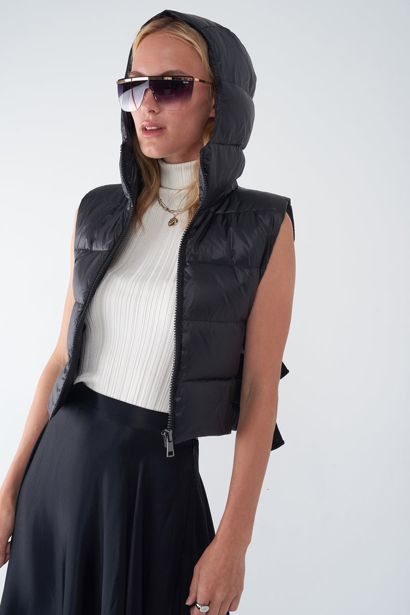 JOY BLACK - IRIDESCENT DOWN VEST