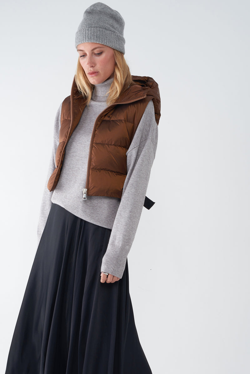 JOY BRONZE - IRIDESCENT DOWN VEST