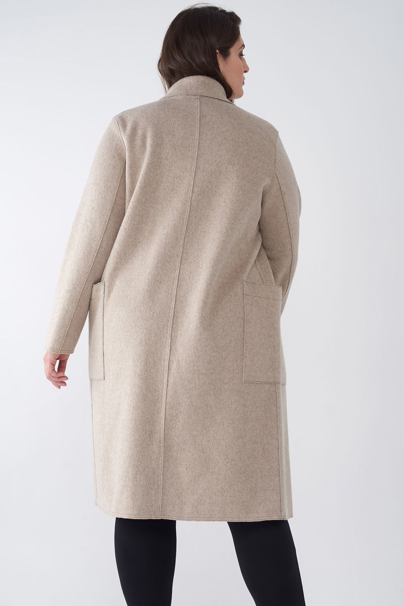 BELLA OATMEAL - BRUSHED KNIT DUSTER