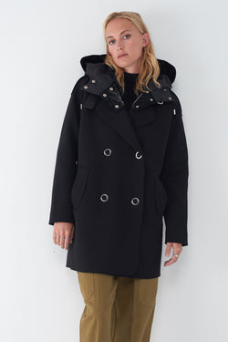 JANY - NEOPRENE JACKET WITH QUILTED HOOD