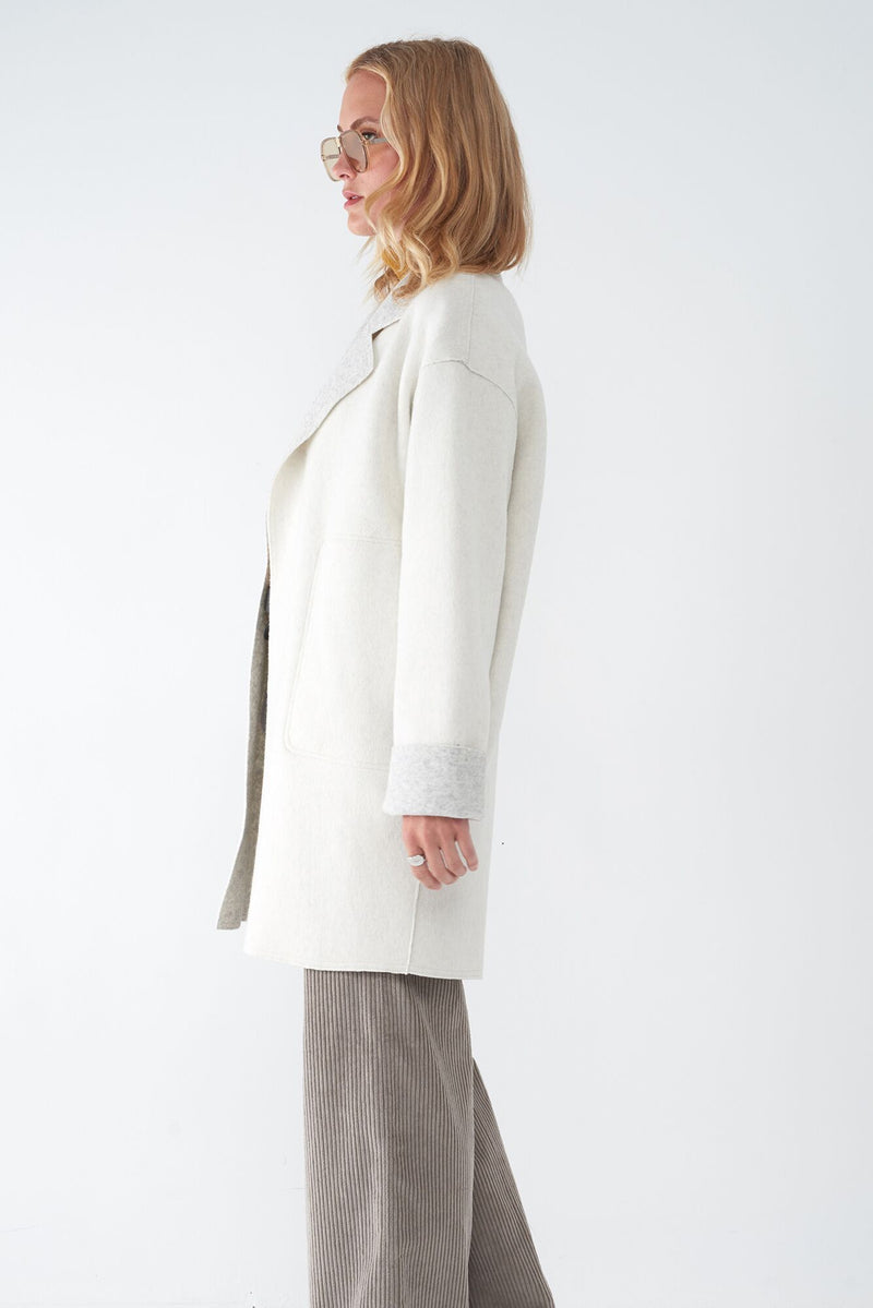 JULIET BONE - OVERSIZED BRUSHED KNIT DUSTER