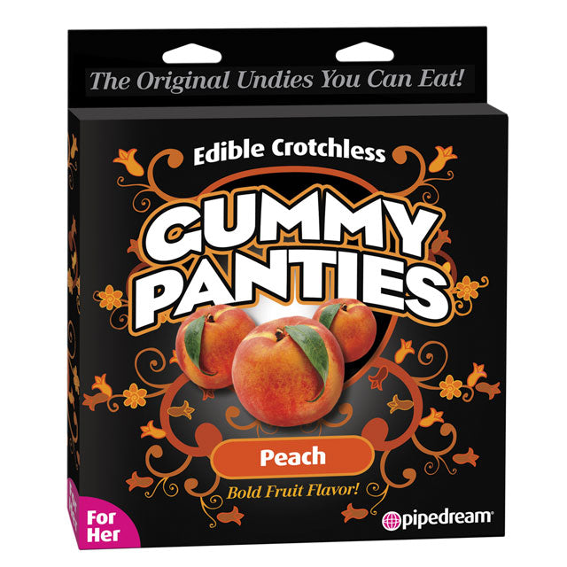 Edible Crotchless Gummy Panties Peach