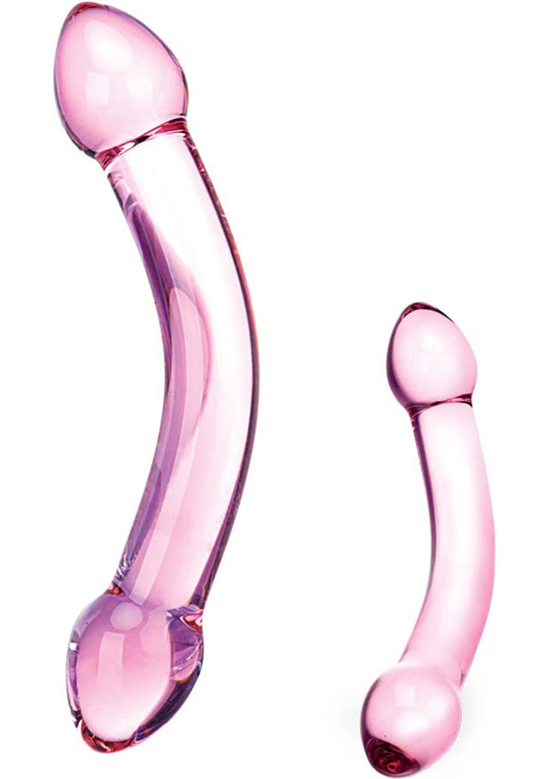 Glas Double Trouble Purple Dildo