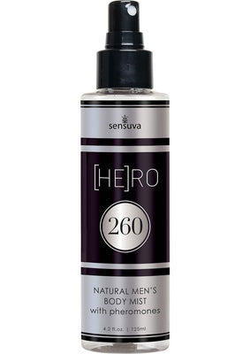 Hero 260 Natural Men`s Body Mist With Pheromones 4.2 Ounce Spray