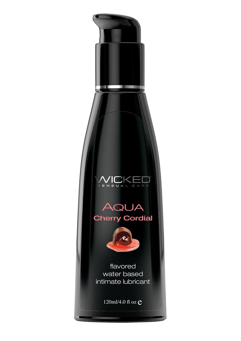 Wicked Aqua Cherry Cordial 4 fl oz Waterbased Flavored Lubricant