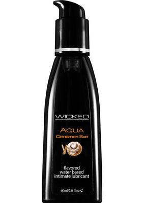 Wicked Aqua Cinnamon Bun 2 fl oz Waterbased Flavored Lubricant