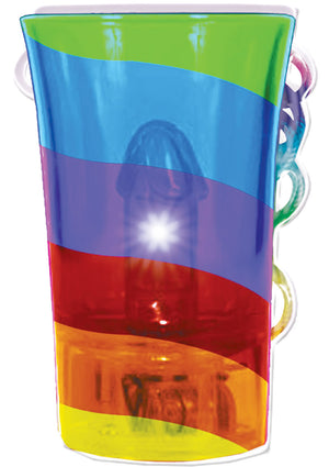 Light Up Rainbow Pecker Shot Glass