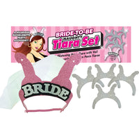 Bride-To-Be Naughty Bridal Tiara Set (Pink/Silver)