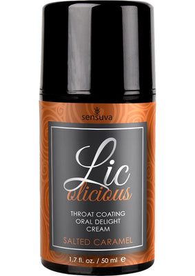 Lic-o-licious Salted Caramel Oral Delight Cream 1.7oz Bottle