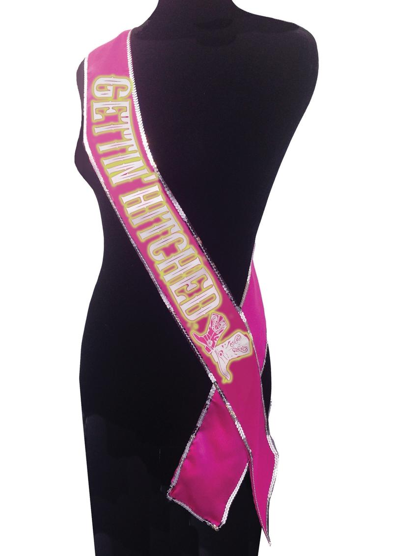 Getting Hitched G.I.T.D Sash