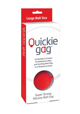 Quickie Ball Gag Large Red