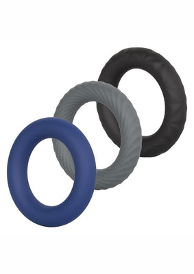 Link Up Ultra Soft Extreme Set Cock Ring - Black/Gray