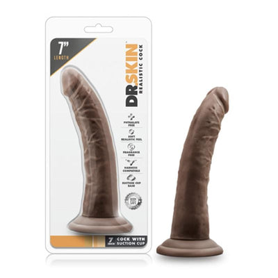Dr. Skin - 7in Cock With Suction Cup - Chocolate