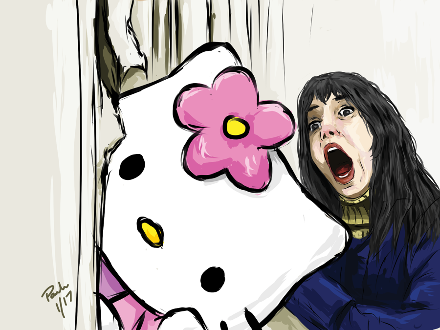 Hello Kitty The Shinning II (18 x 24 Print)