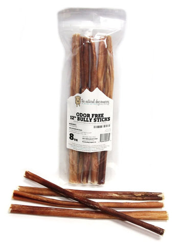 "12"" Odor Free Bully Stick 8oz Value Bag"