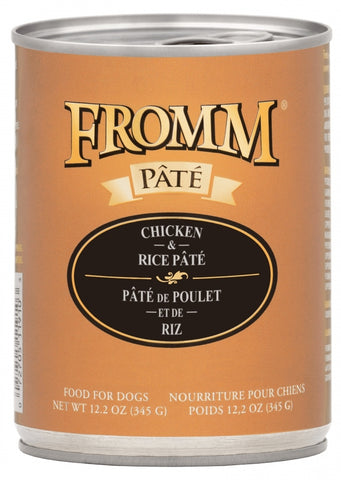 Fromm Chicken & Rice Pâté 12.2oz Can