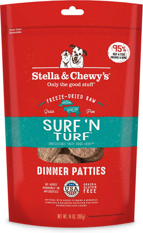 Stella & Chewy's Surf 'N Turf Freeze-Dried Dog Food