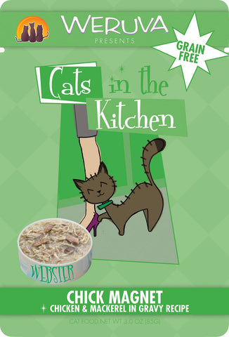Cats in the Kitchen Chick Magnet 3oz Cat Pouch