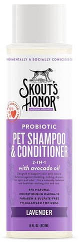 Skout's Honor Probiotic Lavender Pet Shampoo & Conditioner