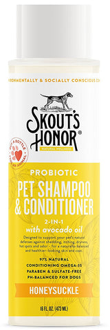 Skout's Honor Probiotic Honeysuckle Pet Shampoo & Conditioner