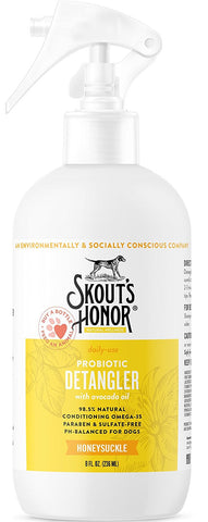 Skout's Honor Probiotic Honeysuckle Daily Use Pet Detangler