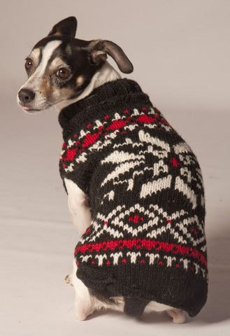 Chilly Dog Black Snowflake Sweater