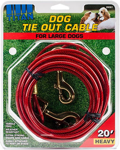 20 FT Dog Tie Out Cable