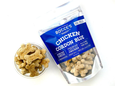 Bocce's Bakery Chicken Cordon Blue Biscuit Treats 8 oz
