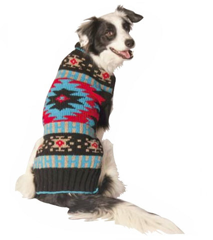 Chilly Dog Black Southwest Dog Sweater