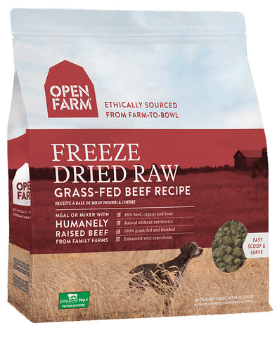 Open Farm Grass-Fed Beef 13.5oz Freeze Dried Raw