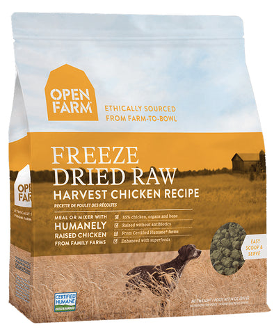 Open Farm Harvest Chicken 13.5oz Freeze Dried Raw