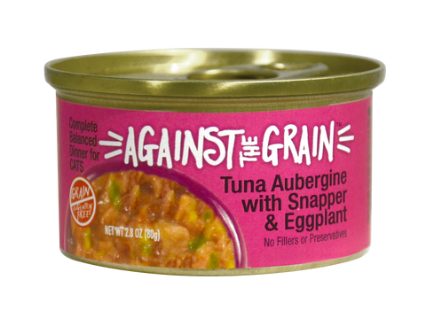 Against The Grain Tuna Aubergine with Snapper & Eggplant 2.8oz Can