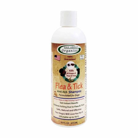 Mad About Organics Flea and Tick Shampoo 16oz