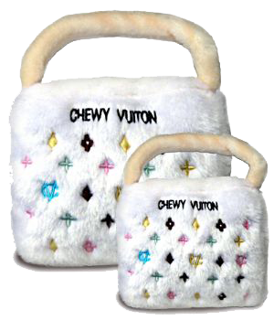 Chewy Vuiton Checker Purse (White)