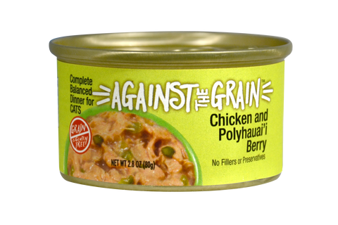 Against The Grain Chicken and Polyhauai'i Berry 2.8oz Can