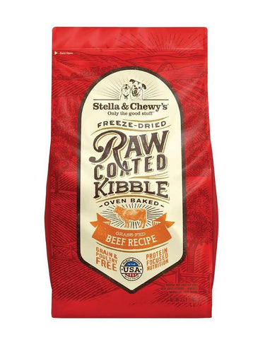 Stella & Chewy's Freeze-Dried Raw Coated Kibble - Grass-Fed Beef Recipe
