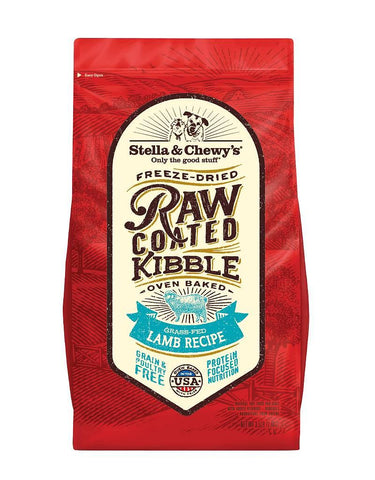 Stella & Chewy's Freeze-Dried Raw Coated Kibble - Grass-Fed Lamb Recipe