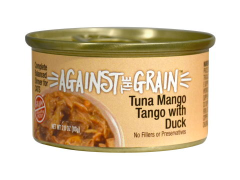Against The Grain Tuna Mango Tango With Duck 2.8oz Can
