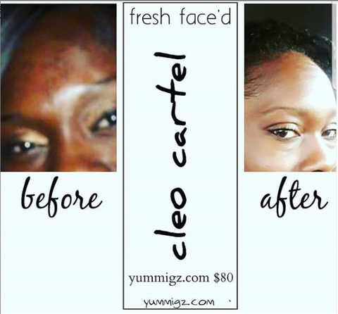 cleo cartel fresh faced facial system (dry/combination skin)