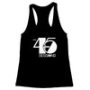 The 45 Sessions Logo (White) Women's Racerback Tank