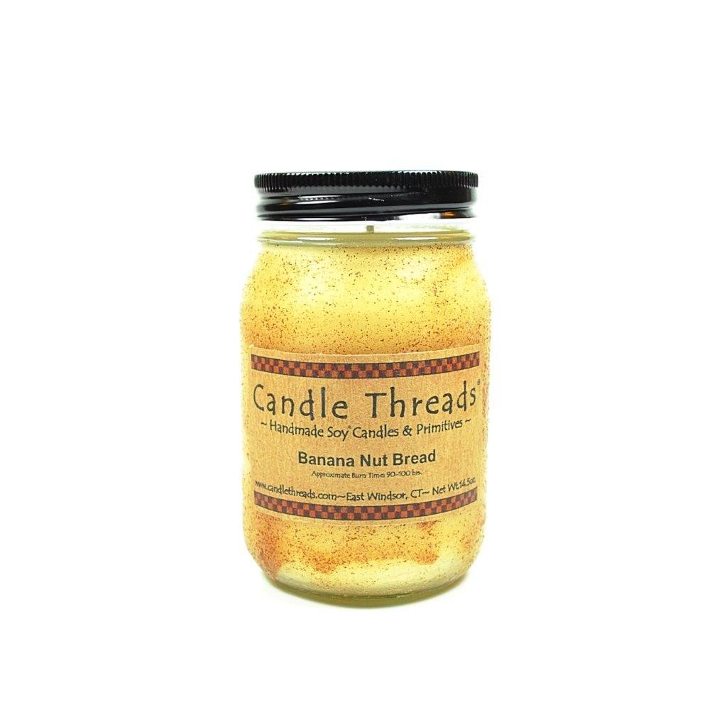 Candle Threads | 16oz Banana Nut Bread Soy Candle