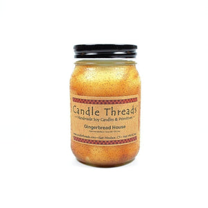 Candle Threads | 16oz Gingerbread House Soy Candle