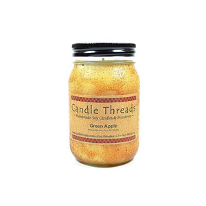 Candle Threads | 16oz Green Apple Soy Candle