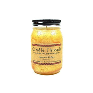 Candle Threads | 16oz Hazelnut Coffee Soy Candle
